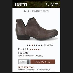 "★NWOT★ BORN ""Kerri"" distressed booties Sz 7"